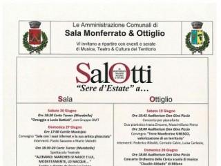 """SalOtti. """"Sere d'Estate"""" a Sala Monferrato e Ottiglio"""