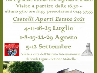 OPEN CASTLES 2021 AT THE ARCHAEOLOGICAL MUSEUM OF ACQUI TERME